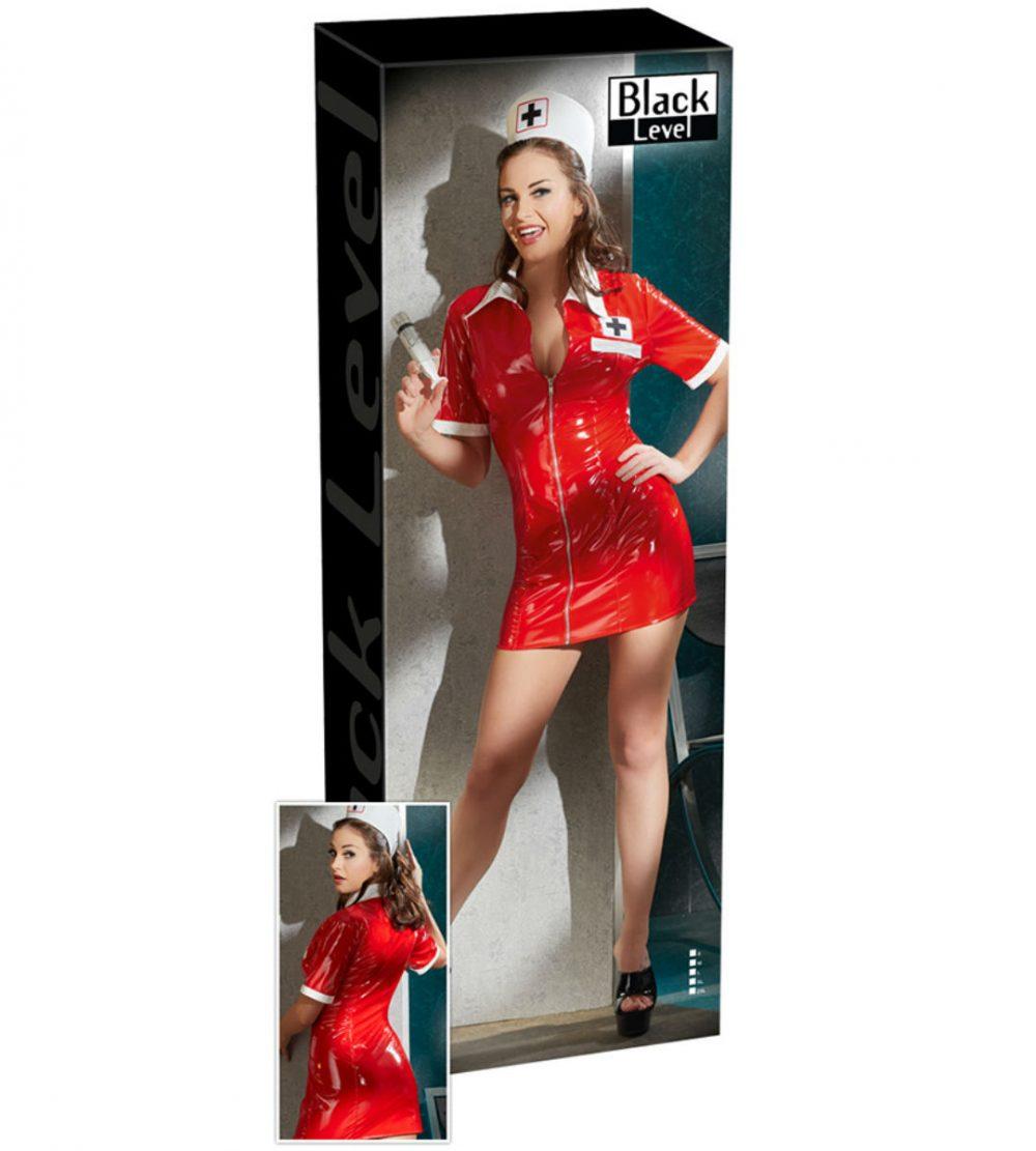 Röd sköterske-dress