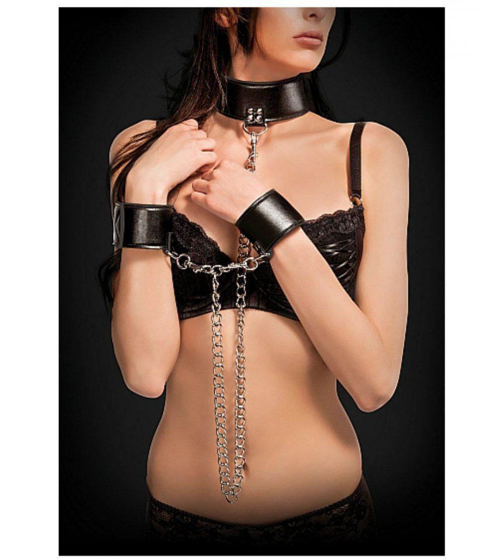 Vändbart halsband med handfängsel